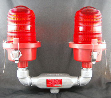 TWR Lighting OL2 Double Obstruction Light FAA Type L-810 & OL2 Double Obstruction Light FAA Type L-810 | MDA Controls Inc.